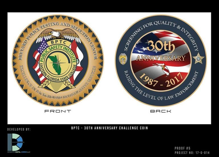 Challenge Coin – Brevard Police Testing and Selection Center